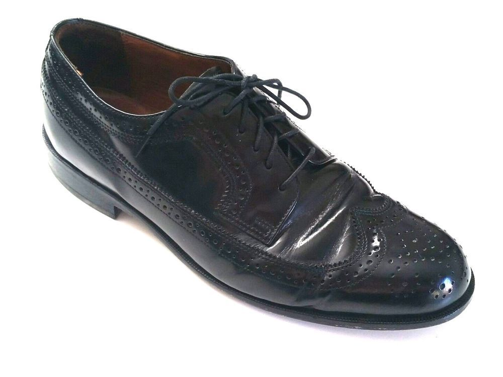 Bostonian Classics Lace Up Loafer Leather Men 9.5 M Black Moccasin Dress Shoes