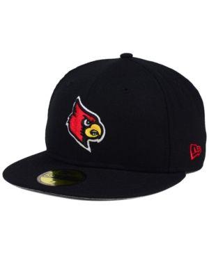 online retailer 43f41 4bae5 New Era Louisville Cardinals Ac 59FIFTY Fitted Cap - Black 7 1 4