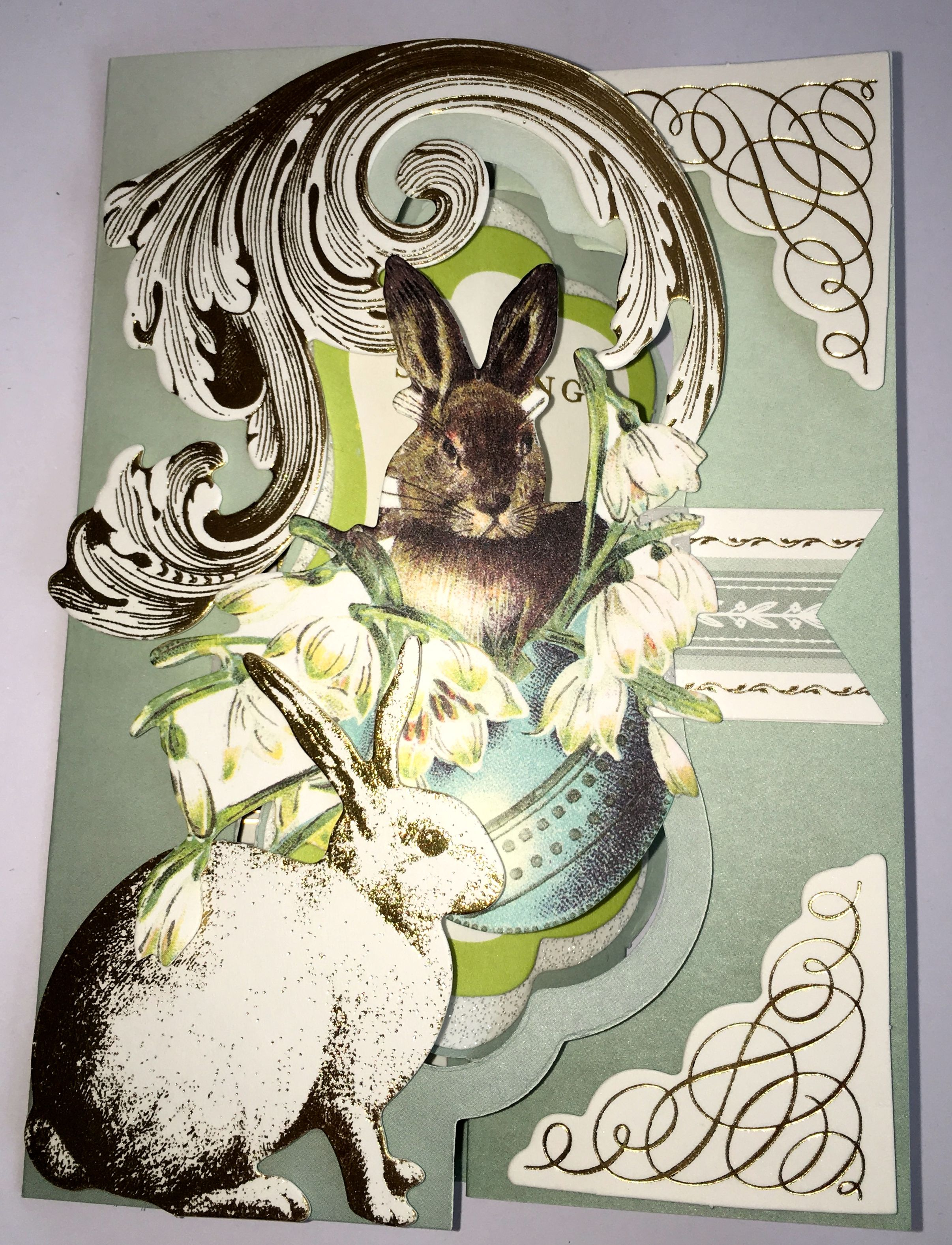 Easter Bunny Fantastic Flips Card Making Kit Anna Griffin Jane – Easter Card Making Kits