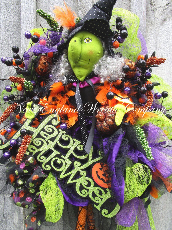 Glamorous Witch Halloween Wreath A New England Wreath