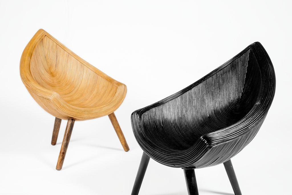 Rotan Stoel Zwart : Stevige rotan stoel in bijzonder mooie vloeiende vorm. uitvoering