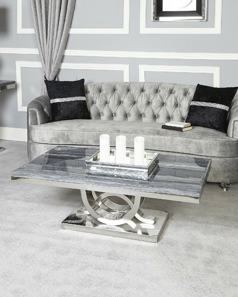 Pluto Grey Marble Coffee Table Marble Coffee Table Living Room Furniture Marble Tables Living Room