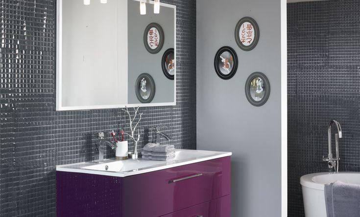 La salle de bain Luxy aubergine salle de bain Pinterest - Meuble De Salle De Bain Sans Vasque