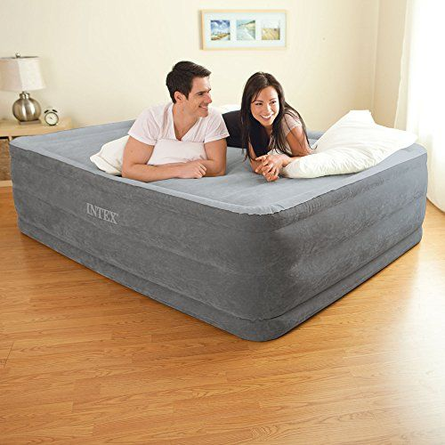Intex Comfort Plush Elevated Dura Beam Airbed With Built In Electric