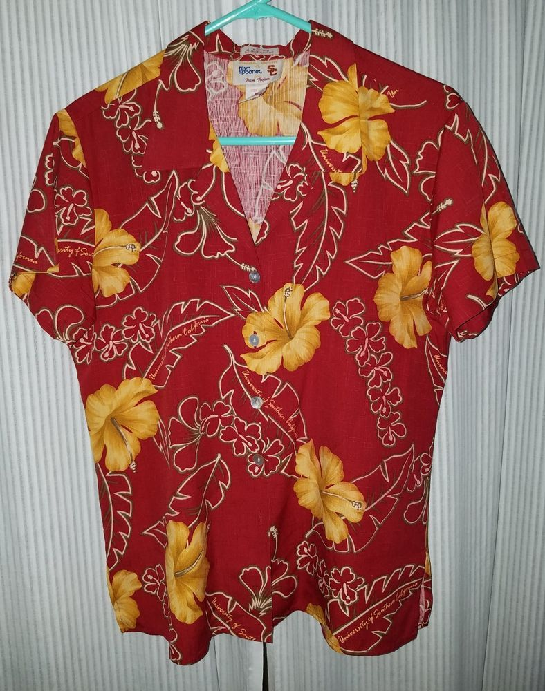 b613d8909 Vintage Reyn Spooner Silk Aloha Hawaiian Shirt USC Trojans Football Size  Small | Clothing, Shoes & Accessories, Men's Clothing, Casual Shirts | eBay!