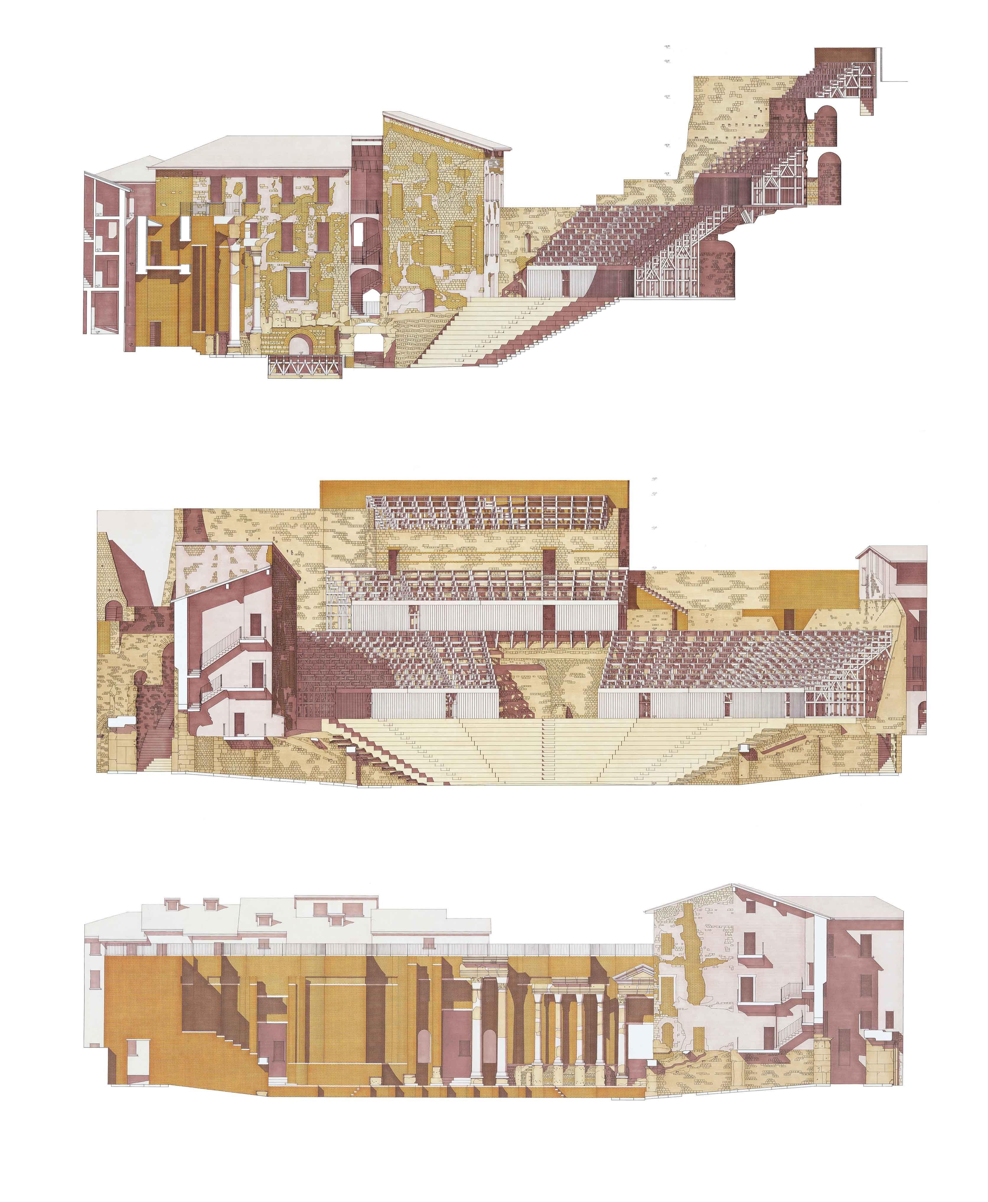 Progetto per il teatro romano di brescia 2000 progetti for Architetto brescia