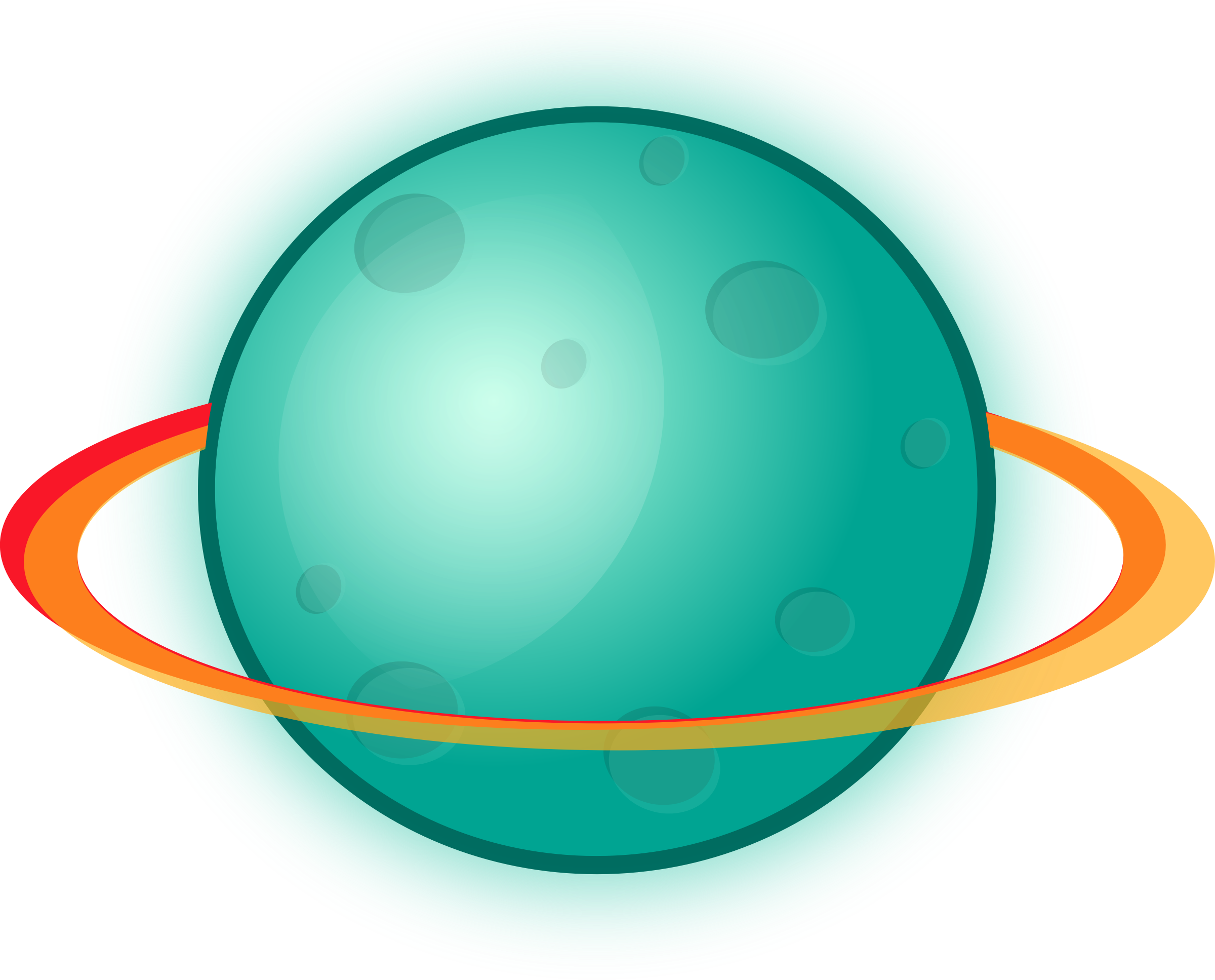 Planet With Rings Planet Ring Earth Day Clip Art Star Clipart