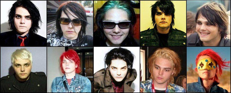 This Is Beautiful 3 A Gerard S Mcr Hair Timeline D My Chemical Romance Hair Evolution Gerard Way