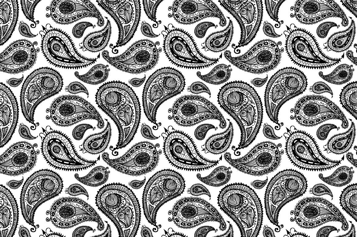 Textured paisley set 2 - Illustrations - 3