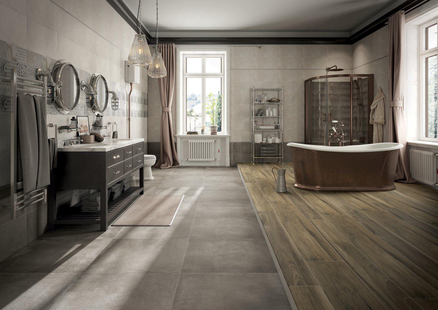 Idea d arredo per un bagno classico e chic dove si intrecciano il