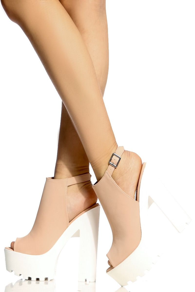536d10bcab9 Rose Faux Nubuck Peep Toe Lug Sole Heels   Cicihot Heel Shoes online store  sales Stiletto Heel Shoes