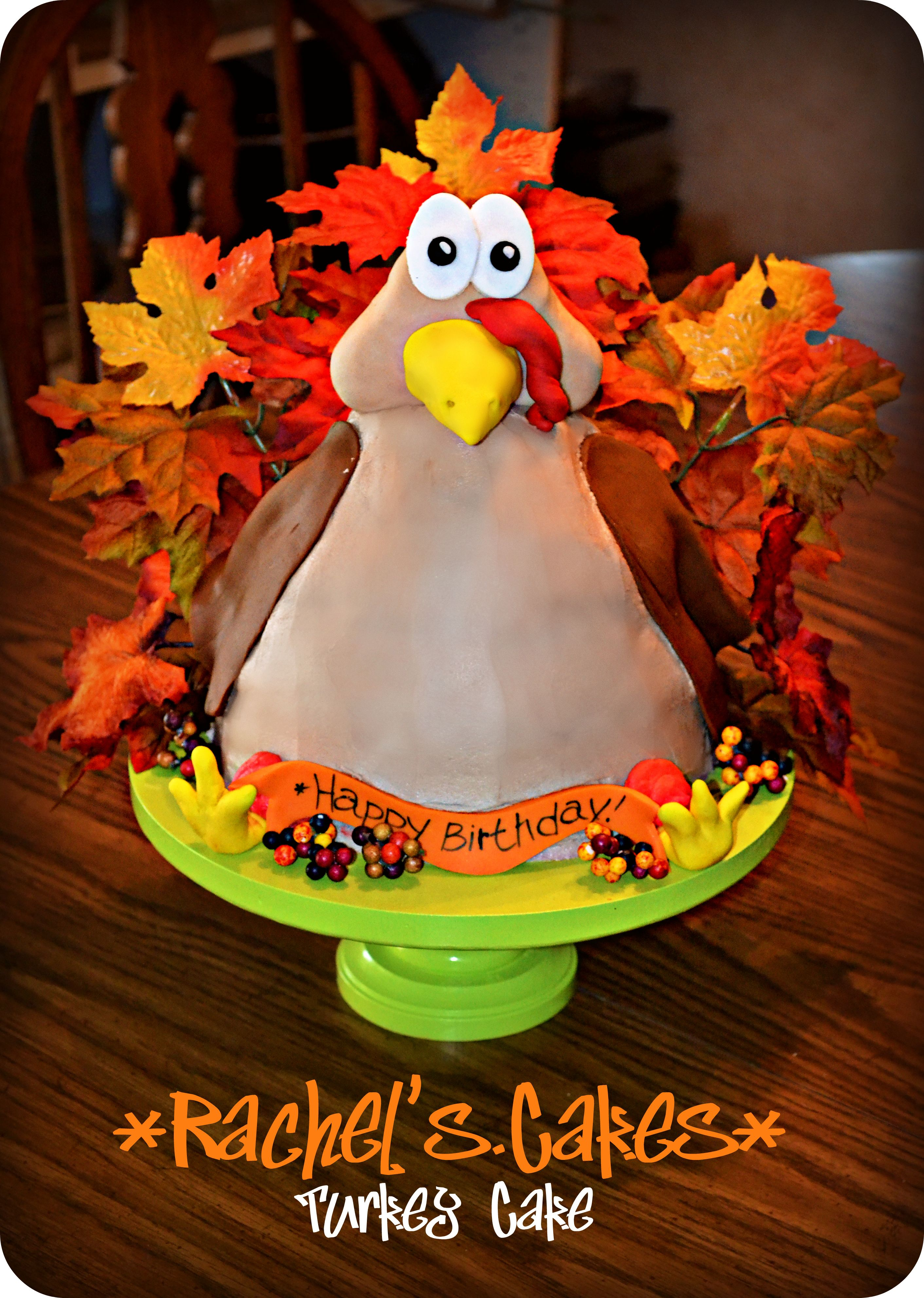 Cool Turkey Cake Perfect For November Birthdays Or Thanksgiving Funny Birthday Cards Online Unhofree Goldxyz