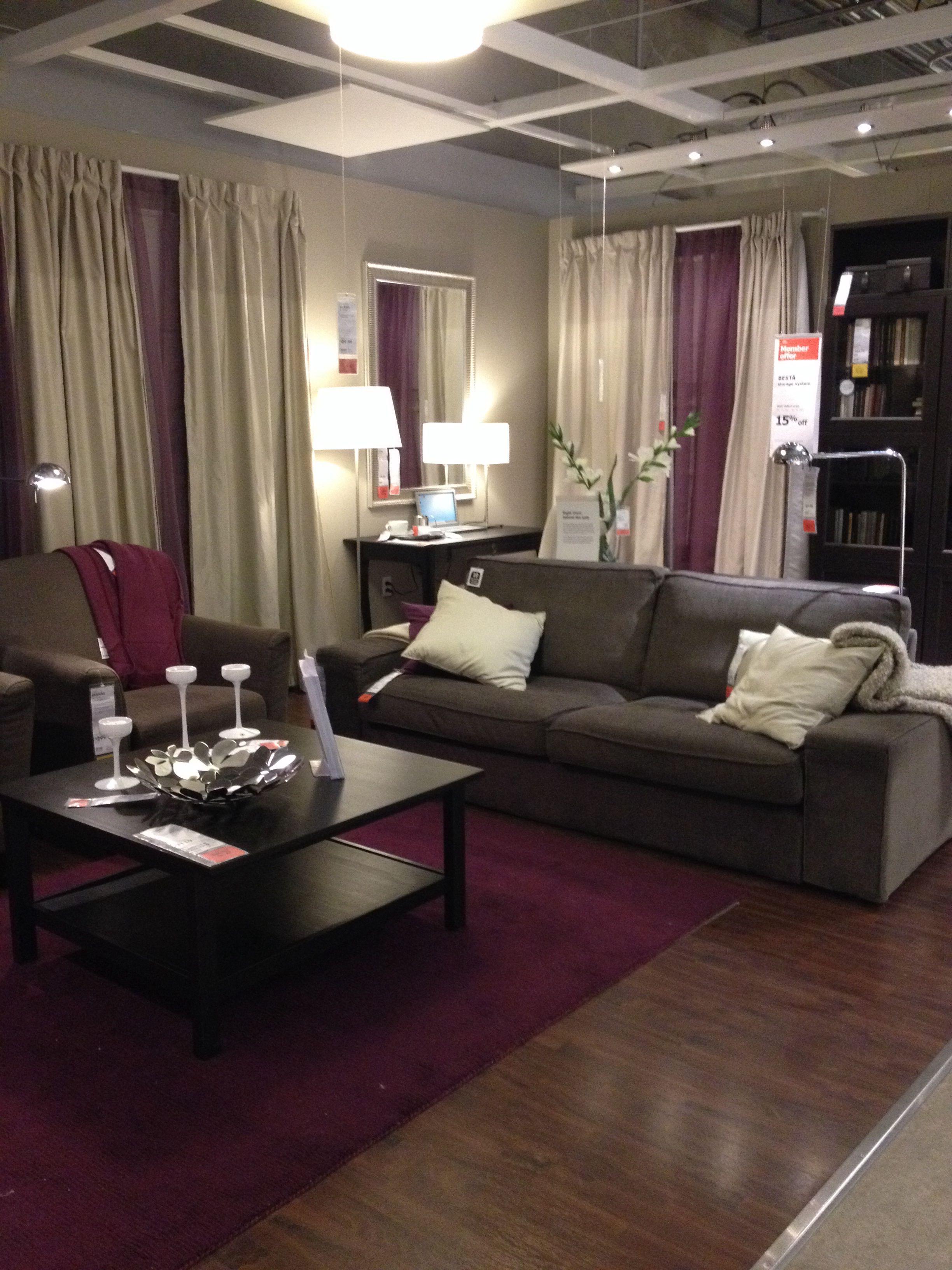 IKEA Purple Living Room