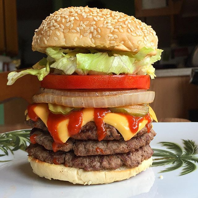 Homemade Macrofriendly Burgerking Triple Whopper Macros For Burger King Version With Cheese