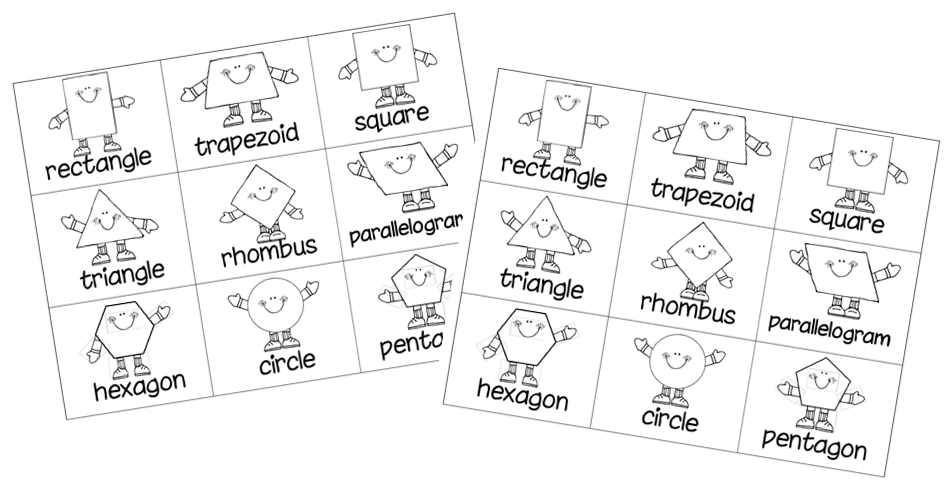 Make a Memory game using geometric shapes, or any other