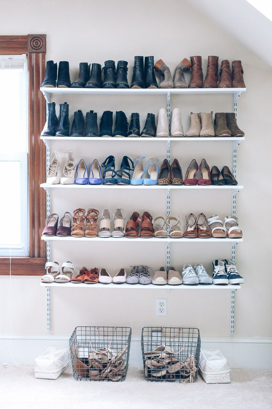 Wall shelves for shoes Entryway shoe storage, Entryway