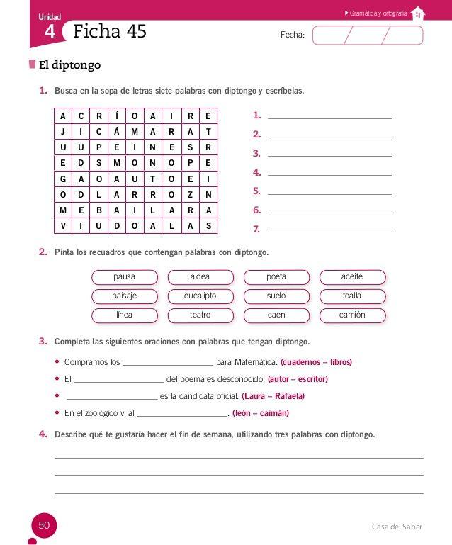 Cuaderno Actividades Lenguaje 4º Lectura Y Escritura Actividades De Escritura Ejercicios Lenguaje