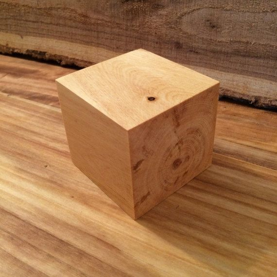 3 Inch 4 Inch Pinyon Pine Oiled Wood Block Wood Crafts