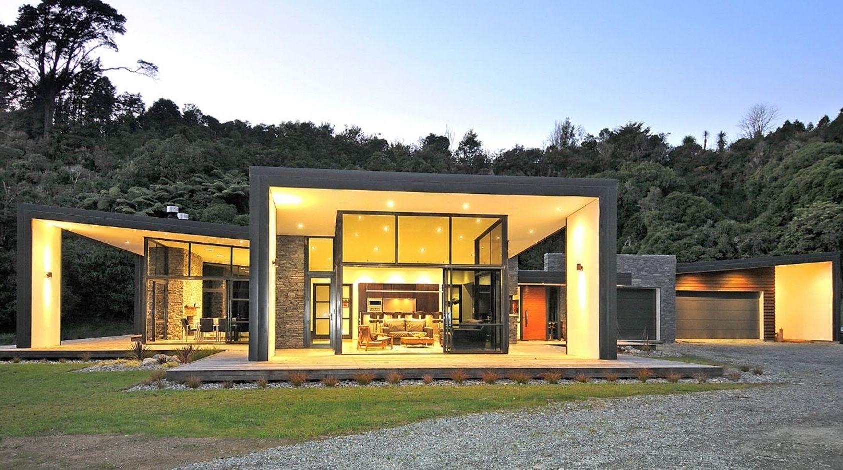 Casa rustica y moderna con vidrios coffee farm en 2019 for Fachada de casas modernas y bonitas