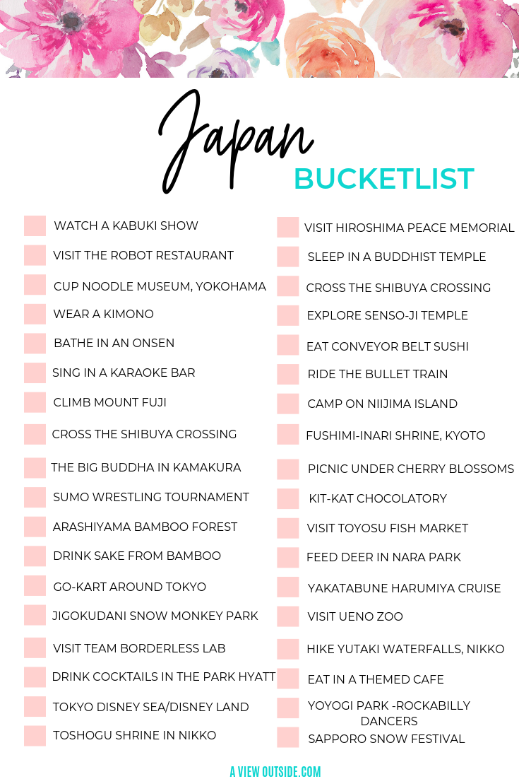 Photo of The Ultimate Japan Bucketlist