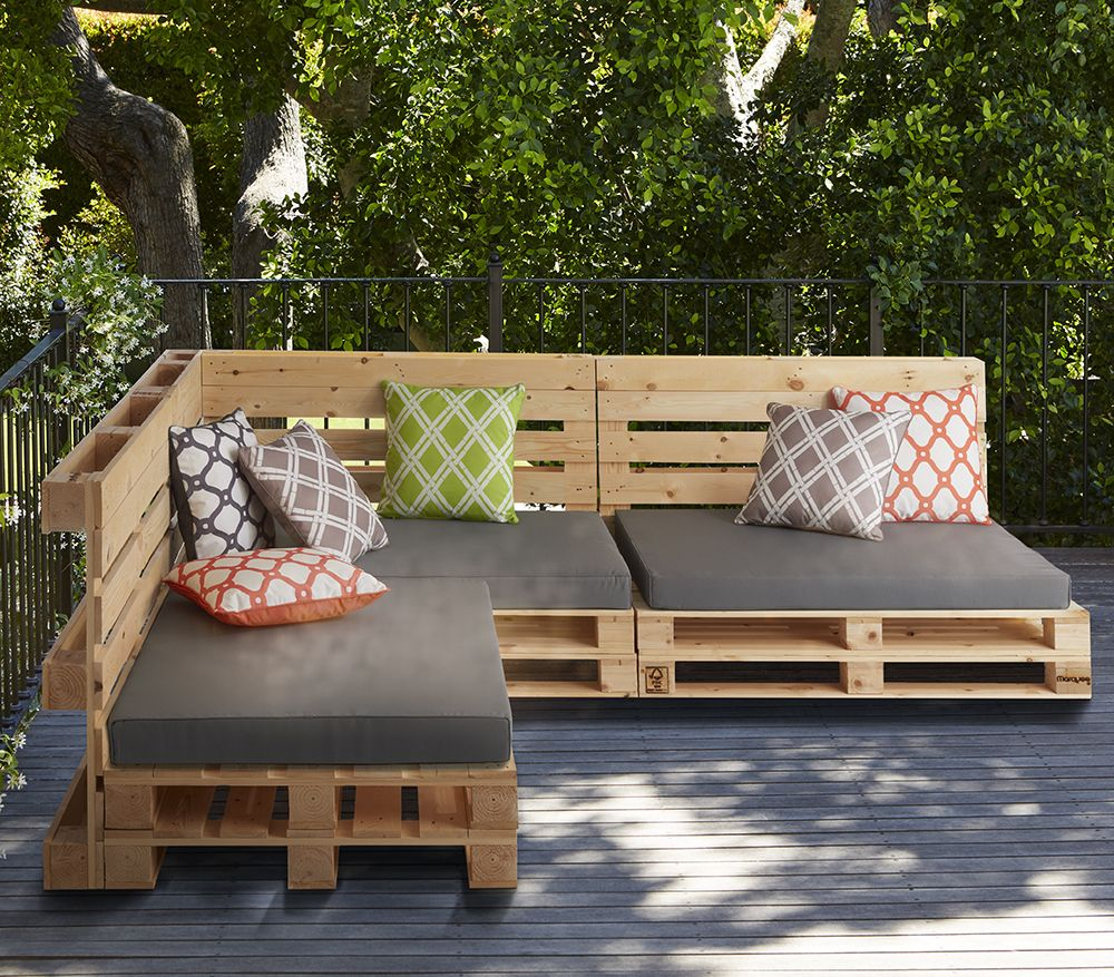 Make Your Outdoor E Own With This Collection Of Pallet Furniture From Homebase Simply Nail The Treated Pallets Together To Create Pieces That Are