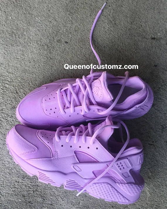 the best attitude 36d4e 4d314 Lavender Nike Huarache Custom Made to order They run a half size  small(suggests ordering a size bigger than usual) Turn around take 7-10 days