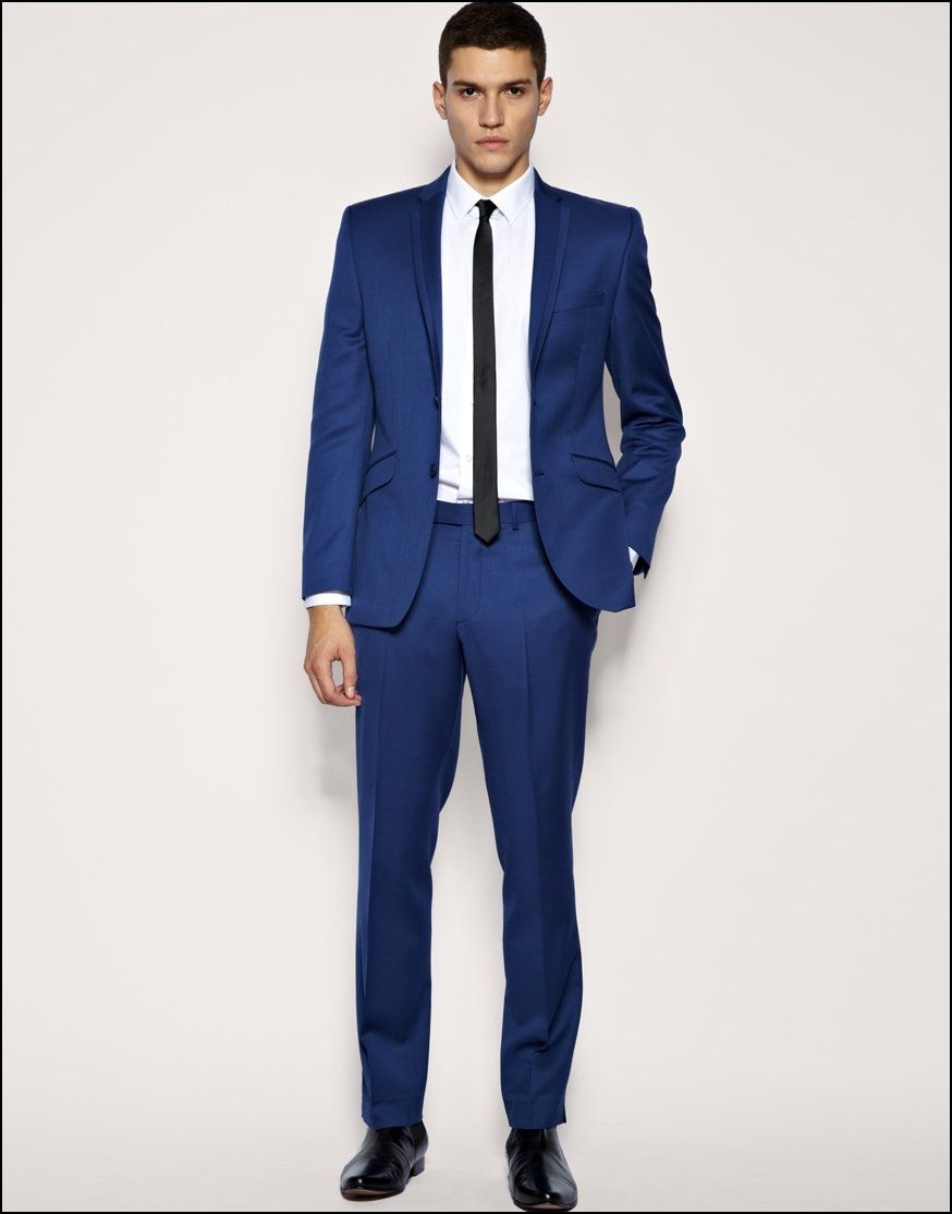 Blue White Suit
