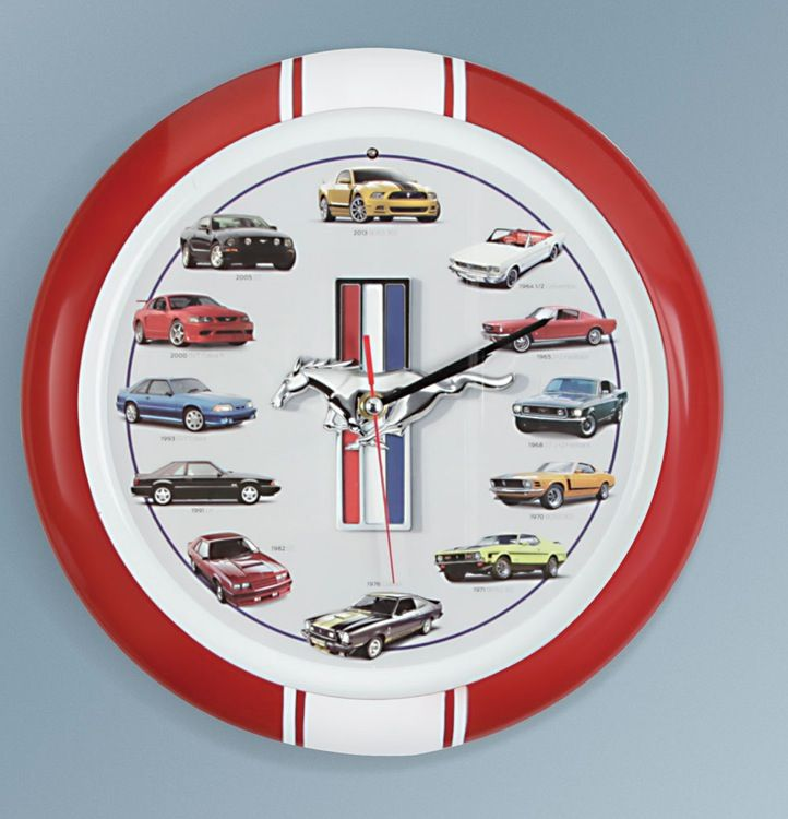 Ford Mustang Clock Growls Like A Different Model At The Top Of Each Hour Video Man Cave Decor Wall Clock Clock