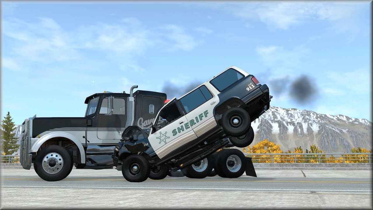 Beamng Drive Emergency Response Vehicles Vs Reckless Drivers In