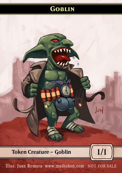 graphic about Magic the Gathering Printable called Printable Goblin Token MTG Magic Magic the collecting