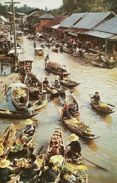 Canals in Bangkok, Thailand  | December 1959
