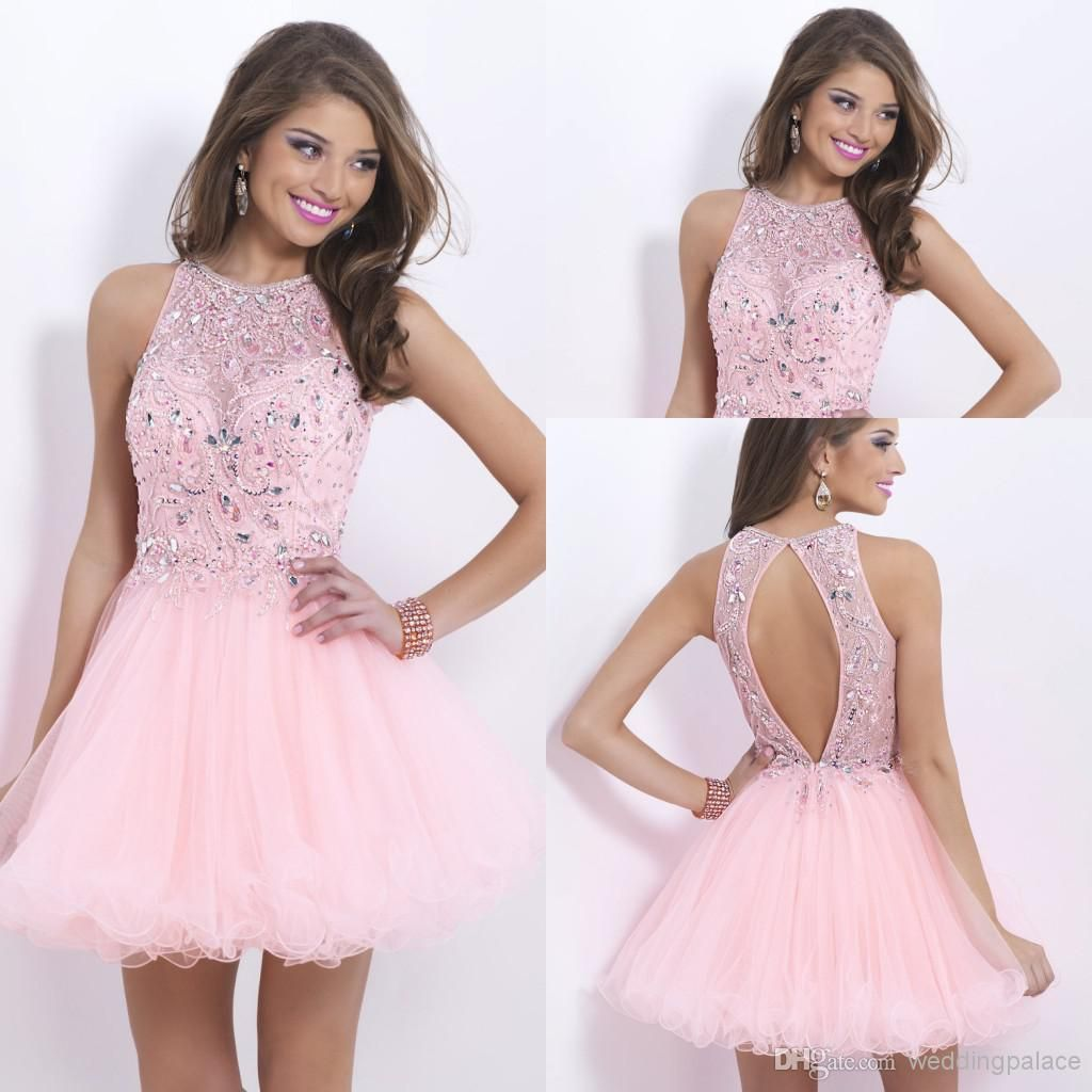 mini short homecoming dresses crystal beaded sweet