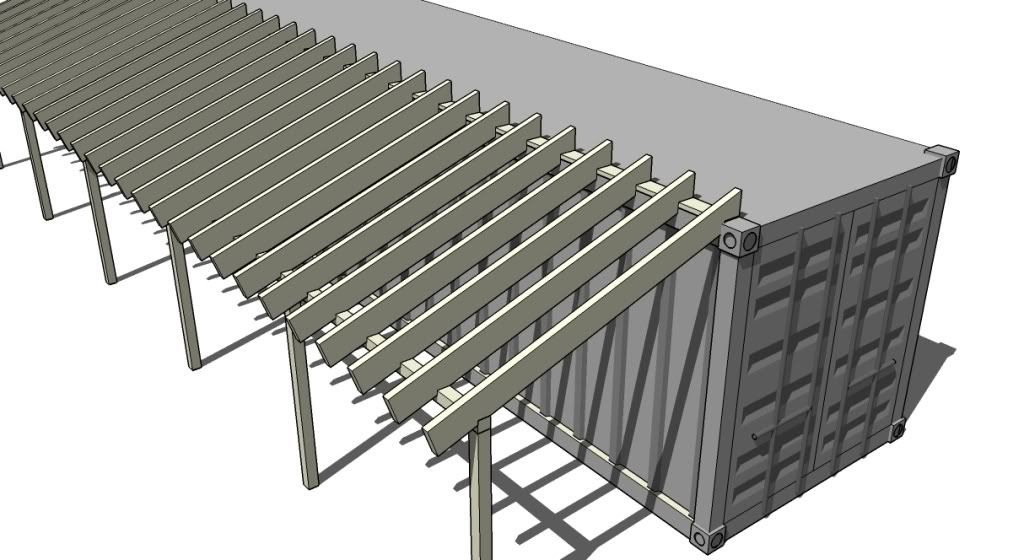 Shipping Container Barn Plans Re Adding Shed Roof On
