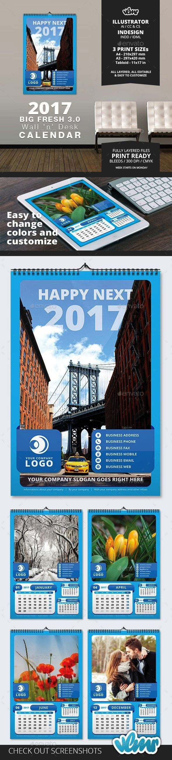 Big Fresh 03 Wall n Desk Calendar Template  InDesign Template 2017 Big Fresh 03 Wall n Desk Calendar Template  InDesign Template 2017 Big Fresh 03 Wall n Desk Calendar Te...