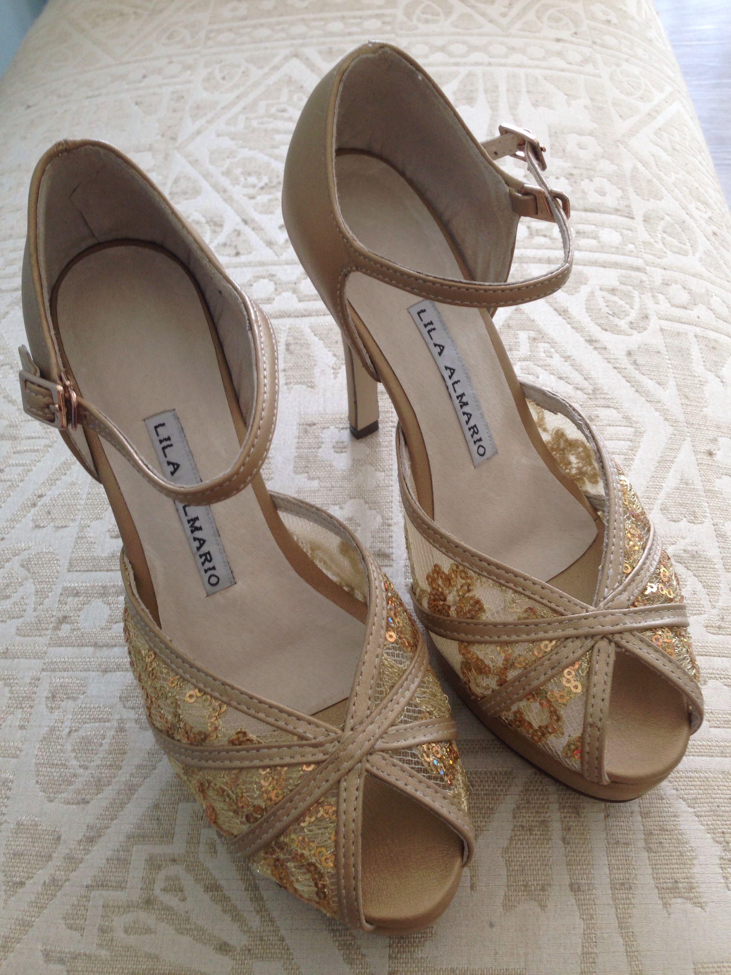 my wedding shoes made by lila almario