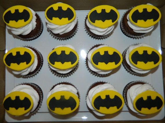 Edible Fondant Batman Inspired Cupcake and by CakeMakesAPartyShop, $12.99