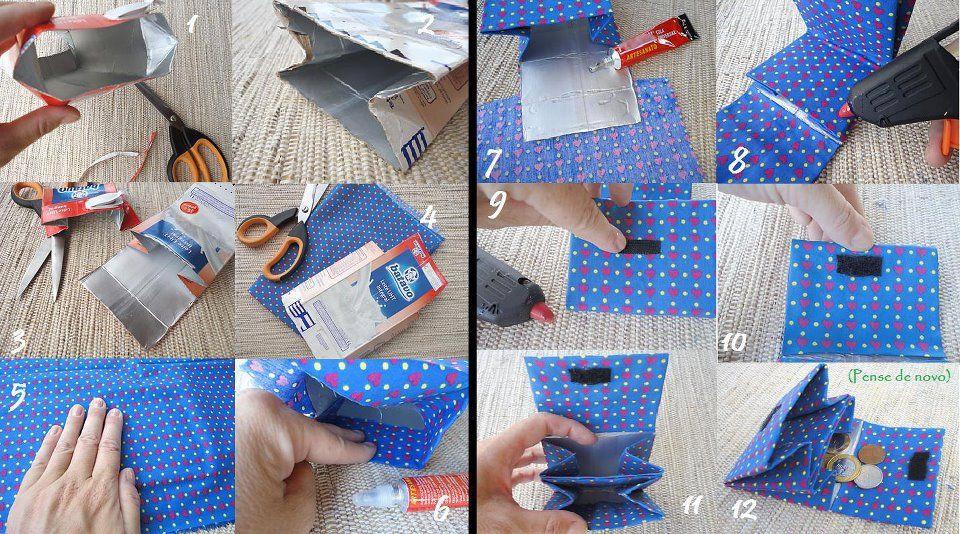 Ocupa el tetrapack para hacer una linda y original billetera ...