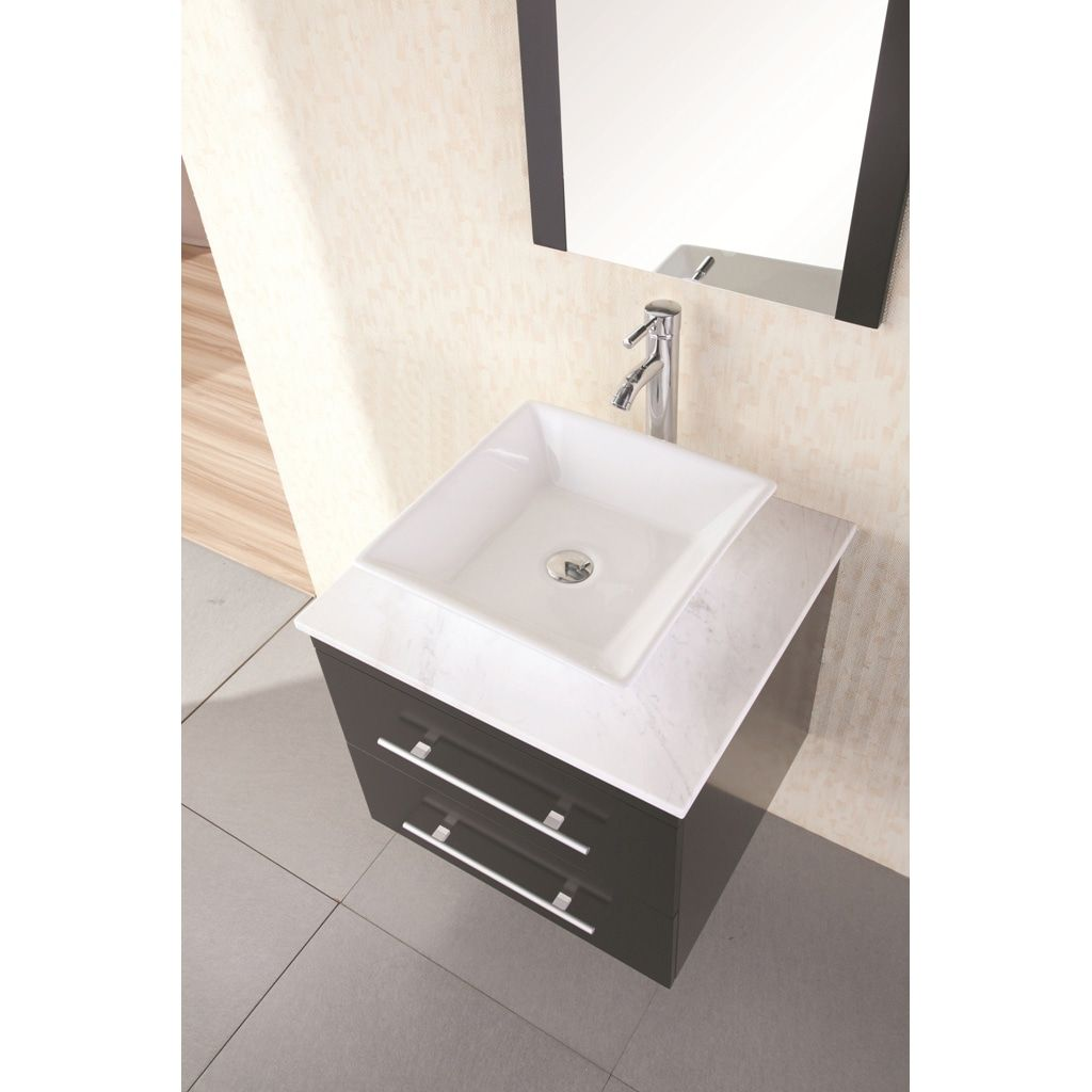 Design Element Simplicity Wall-mount Modern Bathroom Vanity ...