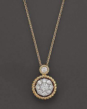 Diamond bezel set pendant necklace in 14k yellow gold 35 ct tw diamond bezel set pendant necklace in 14k yellow gold 35 ct tw bloomingdales aloadofball Images