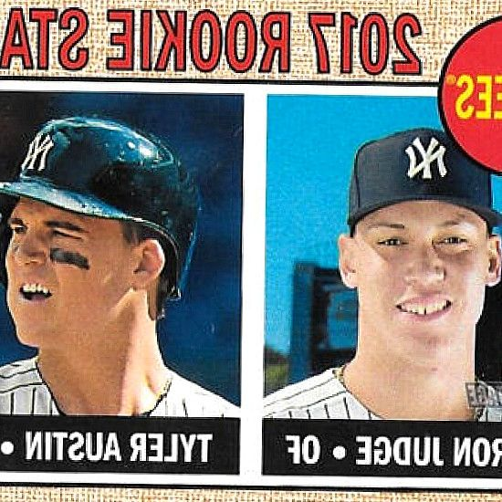 913ec123 New York Yankees 2017 Topps Factory Sealed 17 Card Limited Edition. 2017  Topps Heritage 214 Aaron Judge/Tyler Austin RC Rookie New York Yankees. ...