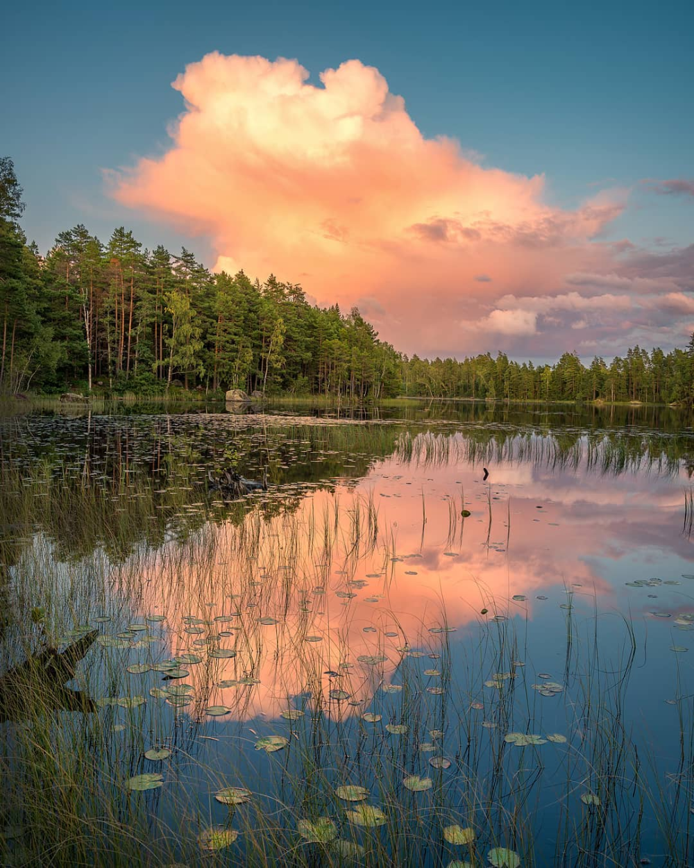Nature Portrait Photographer On Instagram Big Cloud Over A Small Lake In 2020 Beautiful Nature Nature Small Lake