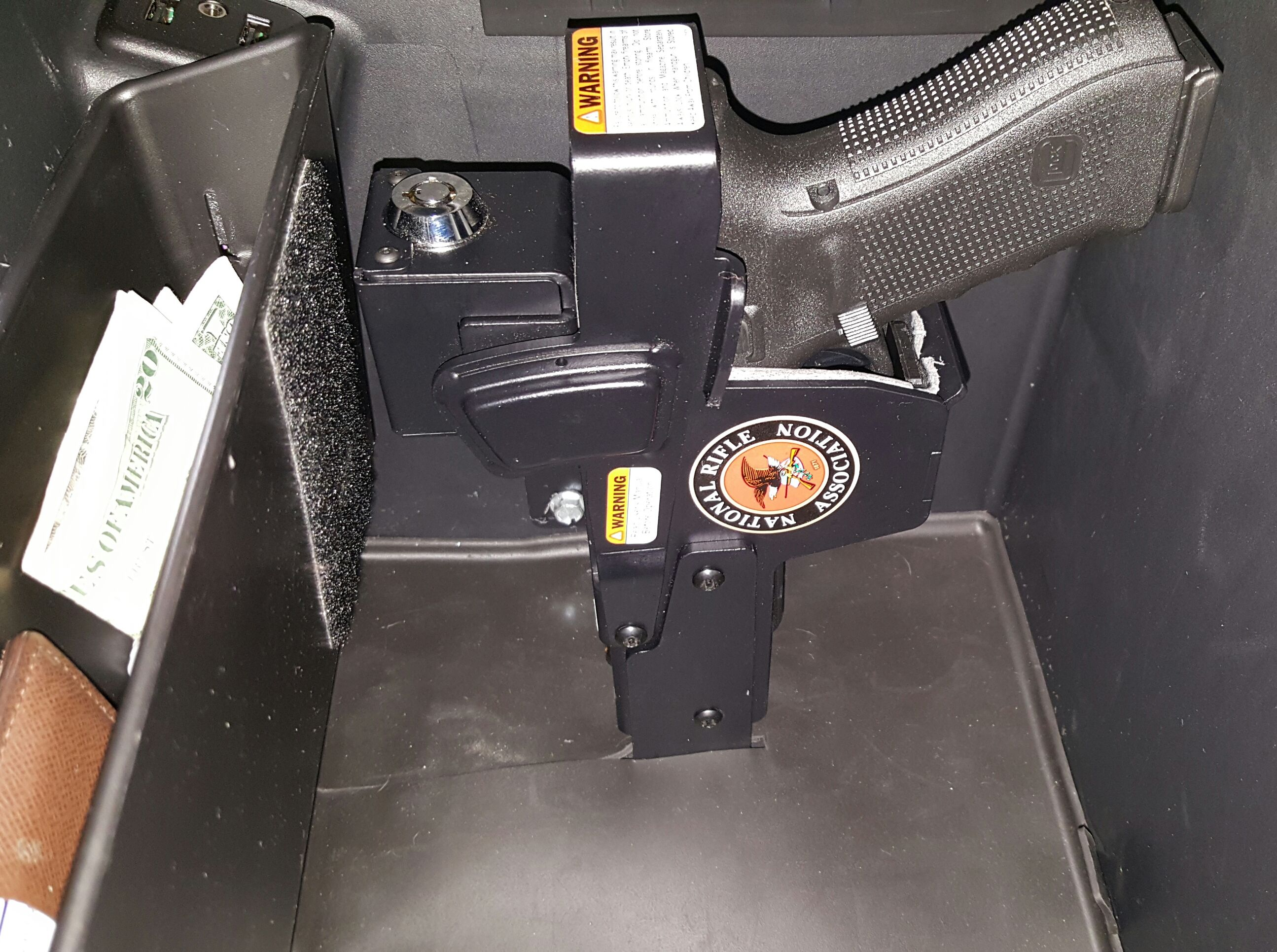 Locking Holster Mounted In The Console Of My Gmc Denali Guns