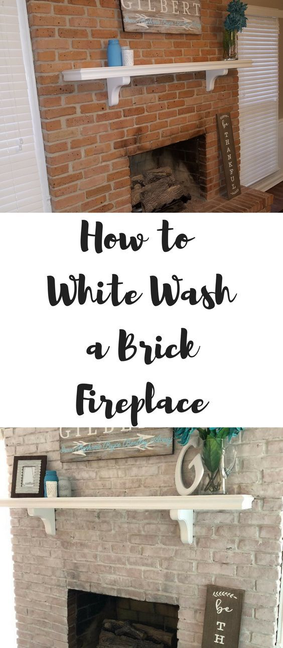 Photo of How to Whitewash a Brick Fireplace
