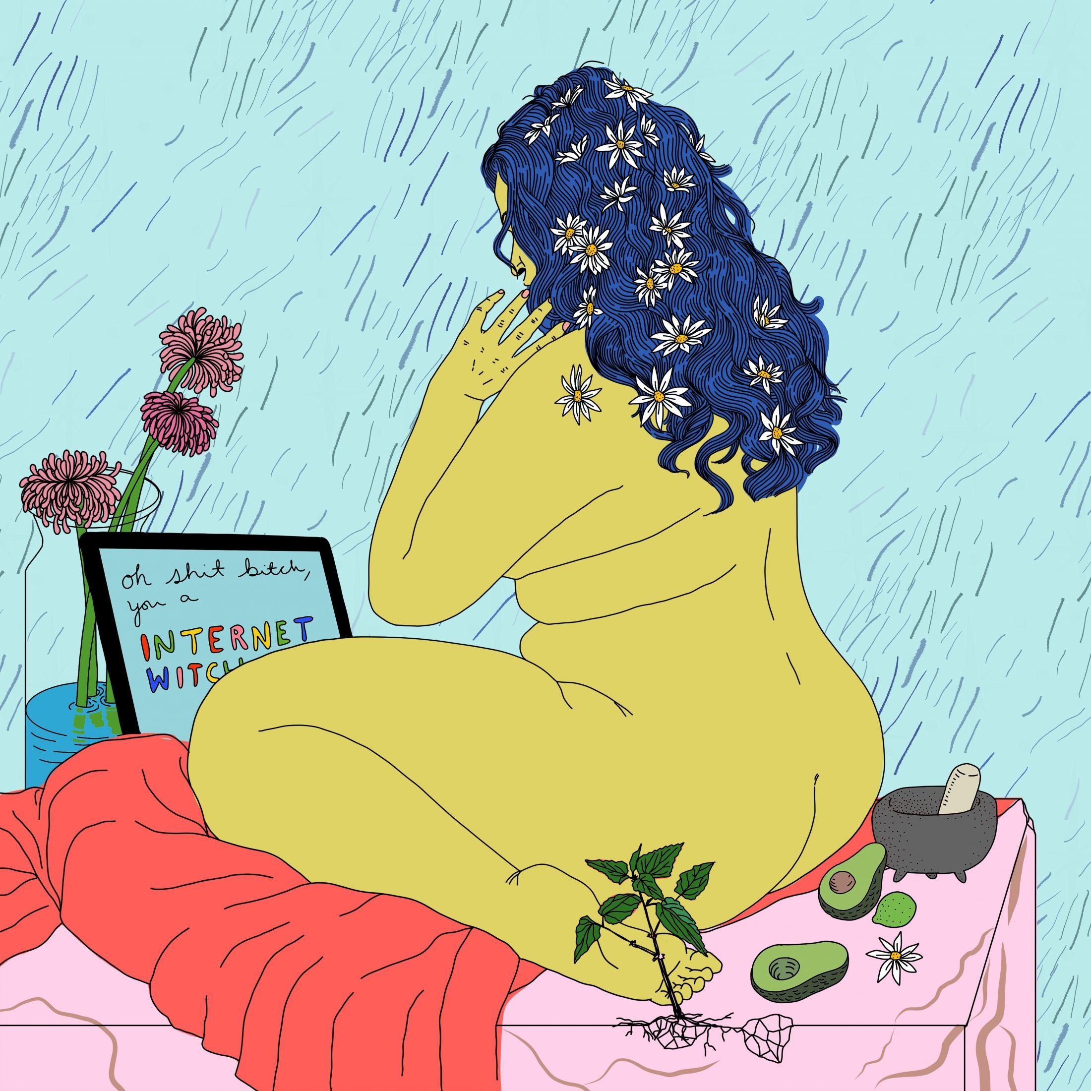 Nesting theresa baxter illustrates the selfcare rituals of the