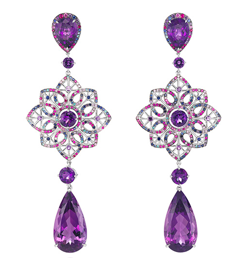 Chopard Earrings From Red Carpet Collection Purple Amethyst