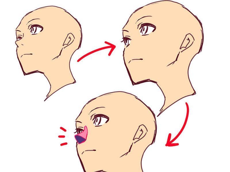 角度のついた顔を描きやすくする4つのコツ In 2019 สเกต スケッチの