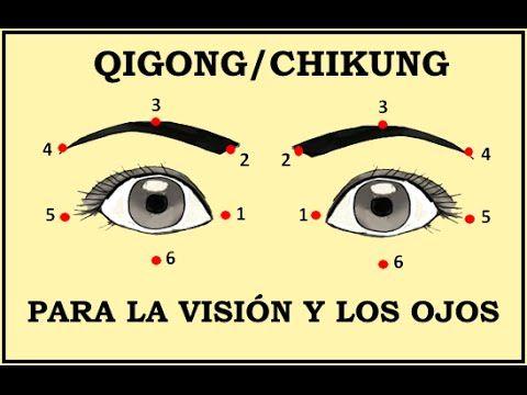 Qigong Para La Visión Y Los Ojos 1a Parte Youtube Qigong Chikung Ejercicios