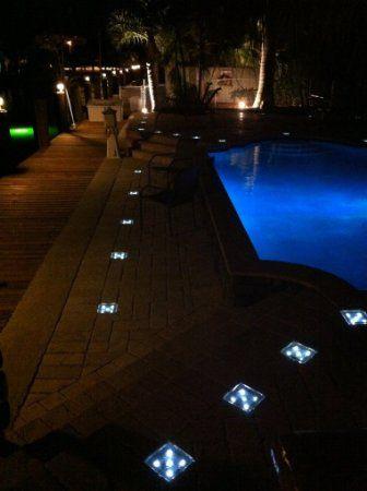 Solar Led Paver Lights 7 67 X3 85 X2 36 Landscape Path Patio Lawn Garden
