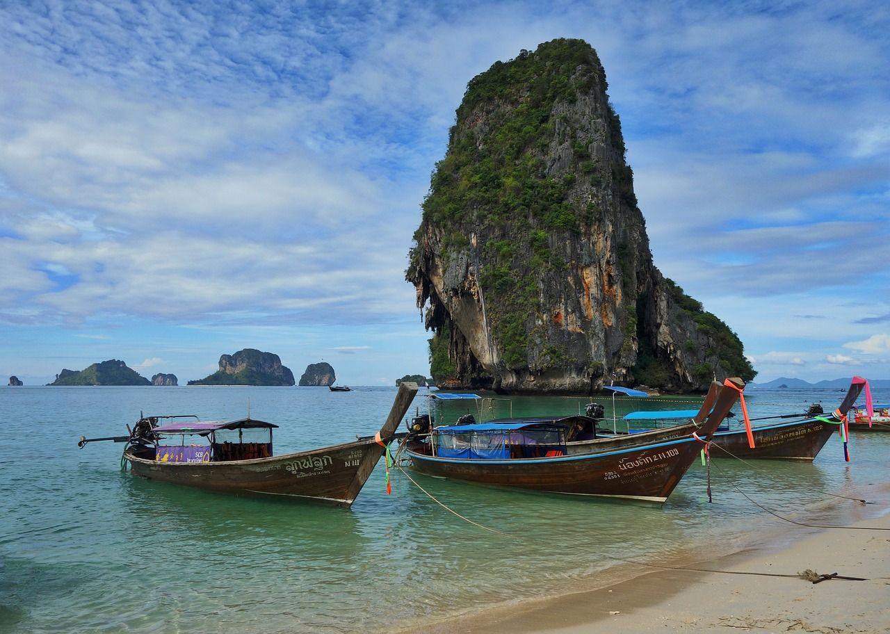 Boat, Phra Nang Thailand Tropical Paradise Boat boat,