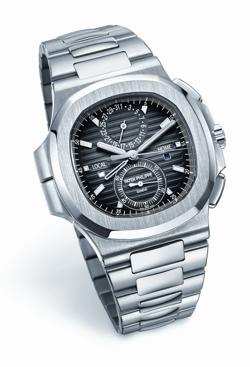 Patek Philippe Nautilus Travel Time Chronograph 5990 1a Watch In Steel Ablogtowatch Luxury Watches For Men Patek Philippe Nautilus Patek Watches